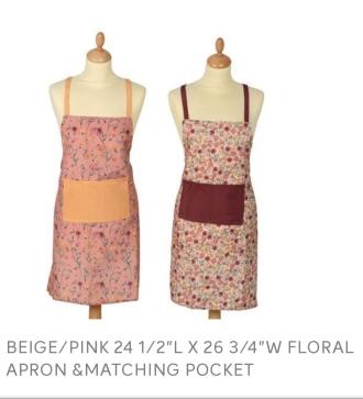 Apron BEIGE/PINK 24 1/2
