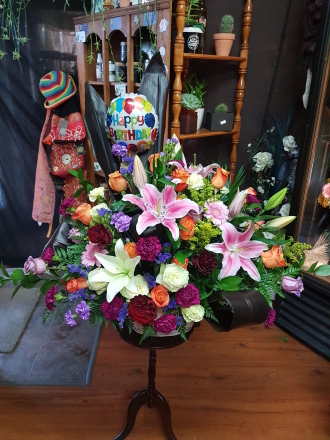 Something elegant and over the top birthday garden of eden