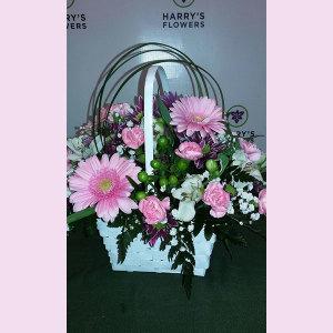 Pretty Blush Basket Arrangement