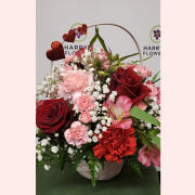Red Hearts Basket