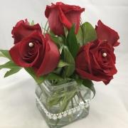 6 Rose Centerpiece - Glam