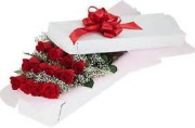 12 Long stem roses gift  boxed