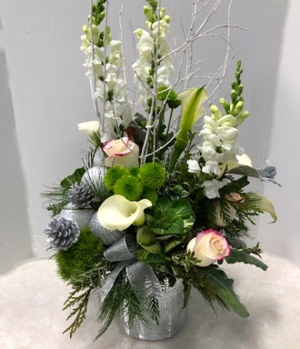 Silvery Shimmer Bouquet