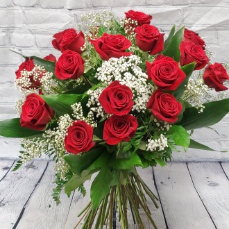 Classic 24 Premium Long Stem Red Roses