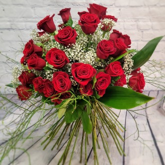 50 Red Roses Luxury Hand-Tied