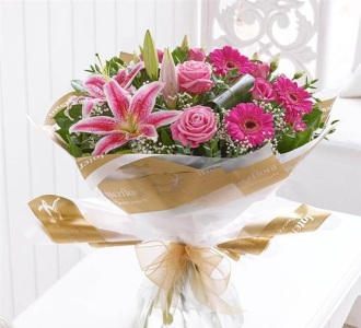 Pink-Radiance Hand-Tied Bouquet