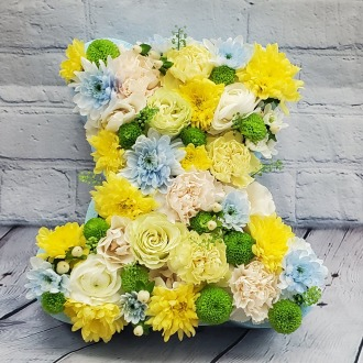 Baby Boy Bear Floral Box