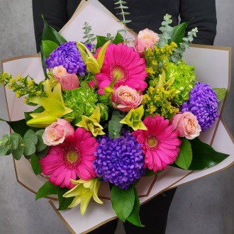 Brighten Her Day Luxury Hand-Tied Bouquet