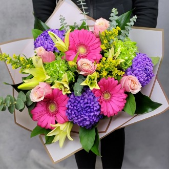 Brighten Their Day Luxury Hand-Tied Bouquet