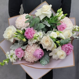 Serene Peonies Luxury Hand-Tied Bouquet