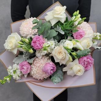 Serene Peonies Luxury Hand-Tied Bouquet