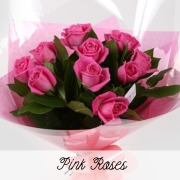 12 Luxury Long Stem Pink Roses