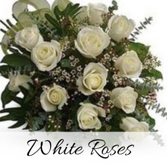 12 Luxury Long Stem White Roses