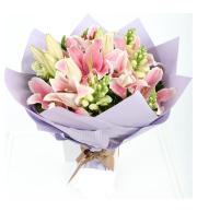 MGM Gift-wrapped Mixed Lily Bouquet