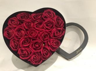 MGM Rose Large Heart Shaped box