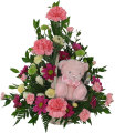 B842 FLOWERS WITH TEDDY