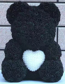 Medium Rose Bear with Pearl Heart-1