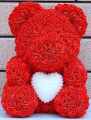 Medium Rose Bear with Pearl Heart-3