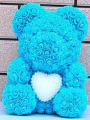 Medium Rose Bear with Pearl Heart-4