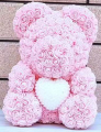 Medium Rose Bear with Pearl Heart-6