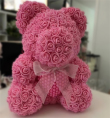 Medium Rose Bear with Pearl Heart