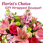Florist's Wrapped Bouquet (Pinks)