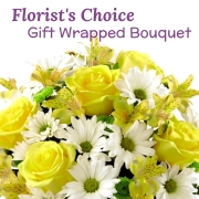 Florist's Wrapped Bouquet (yellow)