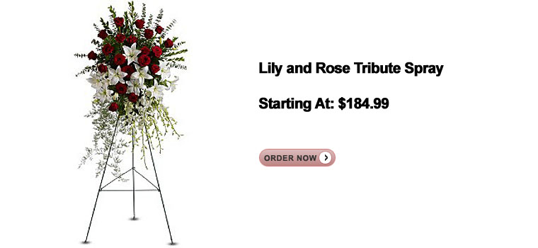 Lily and Rose Tribute Spray