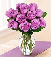 Medium Stemmed Lavender Rose Vased