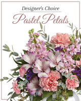 Designer's Choice – Pastel Petals arranged in a vase`