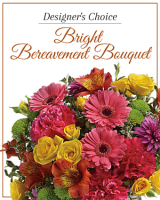 Designer's Choice Bright Bereavement Bouquet