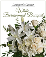 Designer's Choice White Bereavement Bouquet