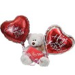 Bear hugs with mylar balloons