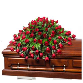 CARISMA FLORISTS® 60 Rose Arrangement Casket Spray CFF-002