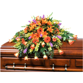 CARISMA FLORISTS® Harvest Garden Arrangement Casket Spray CFF-013