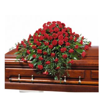 CARISMA FLORISTS® Carnations Casket Spray CFF-019