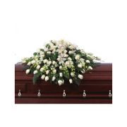 CARISMA FLORISTS® White Regency Casket Spray CFF-037