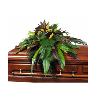 CARISMA FLORISTS® Exotic All Green Casket Spray CFF-061
