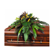 CARISMA FLORISTS® Exotic All Green Casket Spray CFF-061