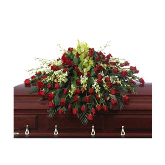 CARISMA FLORISTS® Rose & Orchid Casket Spray CFF-031