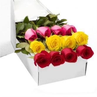MIXED ROSES BOXED