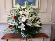 Carisma Florists®Special Arangement Whites and Red Roses