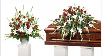 Traditional Red & White Arrangements