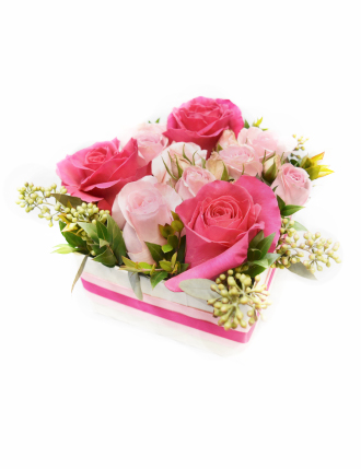 Box Valentin en rose