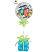Ballon Bubble Cadeau