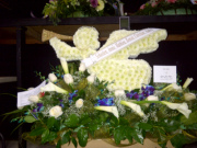Table top Arrangement of Angel with Trumpet