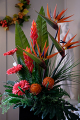 ARTIFICIAL ARANGEMENT OF EXOTIC FLOWERS
