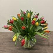 Vase de 24 tulipes mixtes