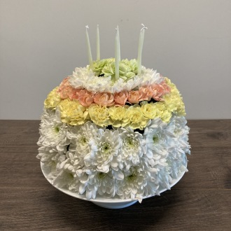 Have a Delicious Day! Floral Cake