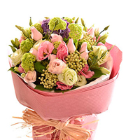 Bouquet of Cut Flowers Pastel Pinks